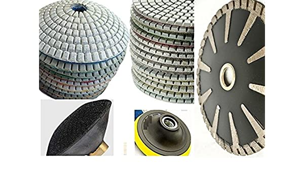 "4/"" Diamond Polishing 8+1 Pad and 4/"" Convex Polishing 7+1 Pad granite concrete"