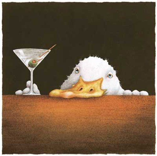 The Bar Bill Will Bullas Drunk Duck Comical Art Print Poster (Will Bullas Ducks)