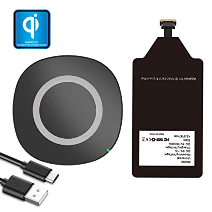 Qi Wireless Charger with Charging Receiver Kit for LG Stylo 2 3 V10 G4 K7 Q6 Plus Samsung Galaxy J7 Pro Note 4 A5 A3 Moto G6 Play G5 G5S E4 ZTE ...