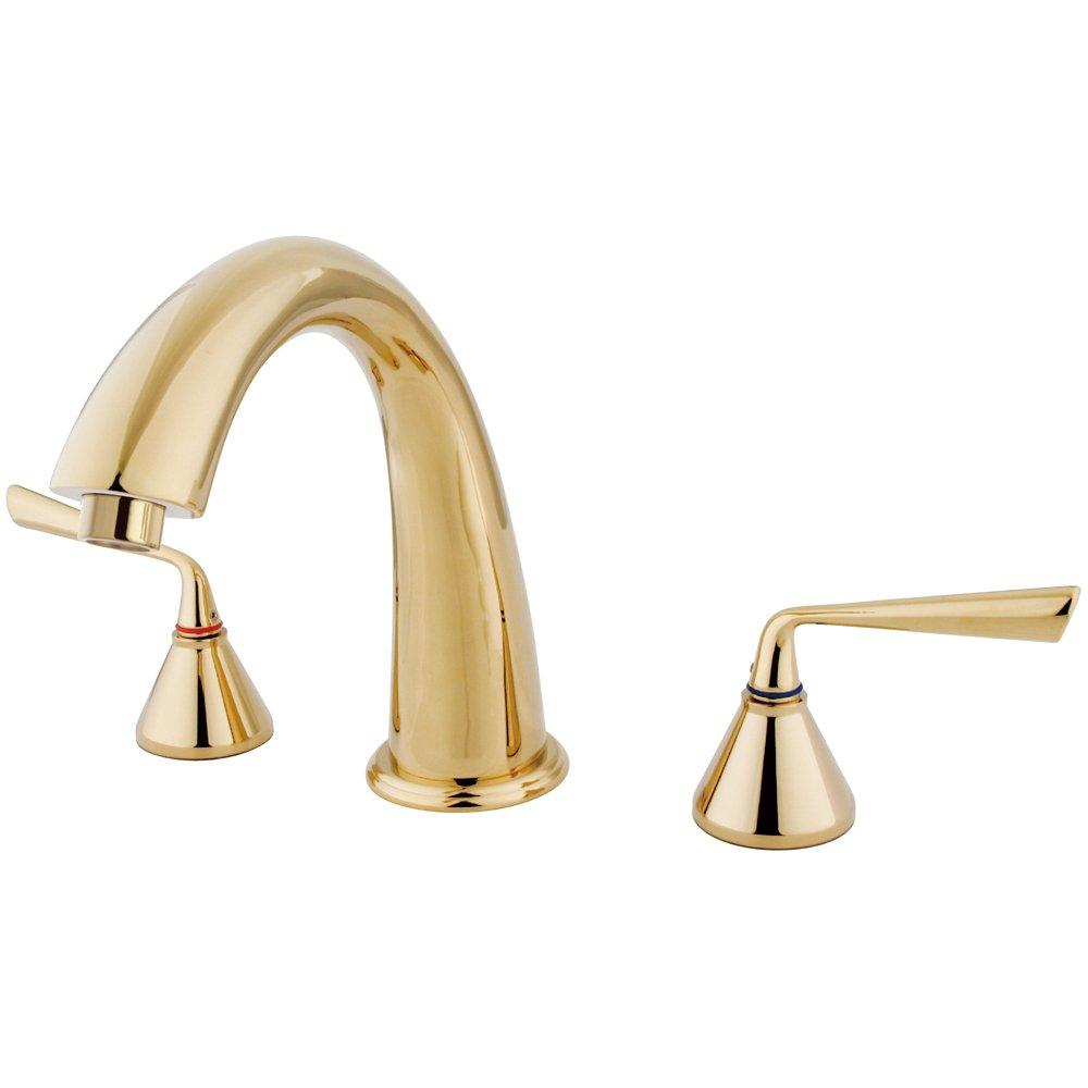 Polished Brass Kingston Brass KS2362ZL Silver Sage ADA Roman Tub Filler