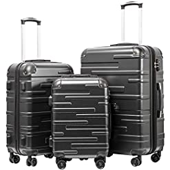 "WMB Travel Pro 51-cRJ5a1mL._SS247_ Coolife Luggage Expandable(only 28"") Suitcase 3 Piece Set with TSA Lock Spinner 20in24in28in (reg grey)"