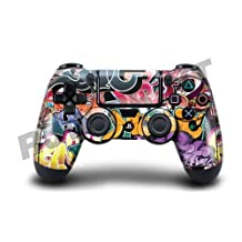 Playstation 4 (PS4) Controller/Gamepad Skin / Cover / Vinyl Wrap - Graffiti Bomb Design (Pack of 2 Skins) by Cell Shell