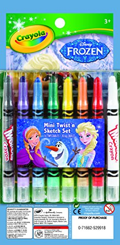 Crayola Mini Coloring Pages Frozen : Crayola frozen mini twistable crayon paper set brune game