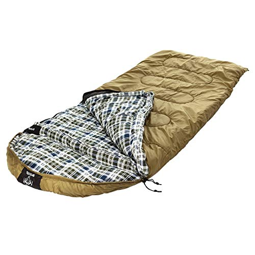 (MISC Gold 0Degree Sleeping Bag for Adults 0 Degree Sleep Bag Coldweather 0c Sleepingbag Warm Oversized Camping Outdoors, Synthetic)