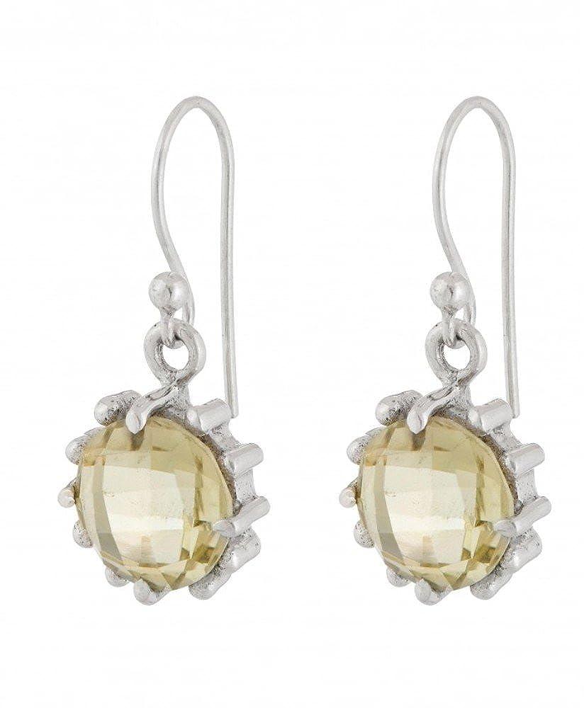 Earrings with Lemon Quartz