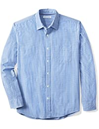 Men's Regular-Fit Long-Sleeve Gingham Casual Poplin Shirt