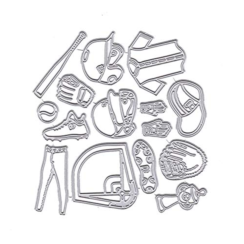 RGBIWCO - Cutting Dies Stencil Metal Mould Template for DIY Scrapbook Album Stamp Paper Card Embossing Crafts Decor - Baseball Uniform