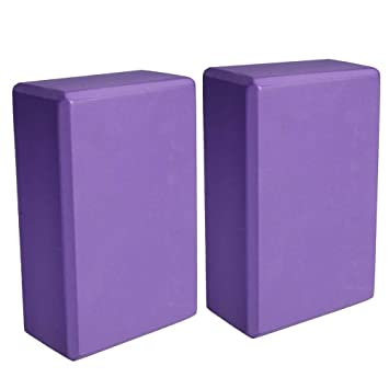 Finesdear Yoga Block Cuboid EVA - Ladrillo de Yoga, Purple ...