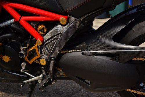 DUCATI Diavel both sides Frame Trim Real Carbon Fiber pad tank protector by RZ Moto (Image #6)