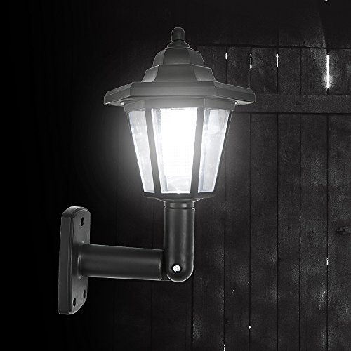 Fornorm Solar LED Wall Lights Outdoor- LED Solar Wall