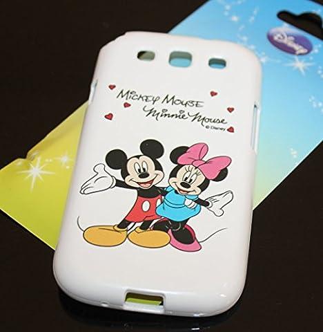 WirelessMobile; Samsung Galaxy S3 Case - [Mickey & Minnie Mouse] Soft Silicone Protector TPU Shield Skin Cover For Samsung Galaxy S3 (S3 Cases Mickey Mouse)