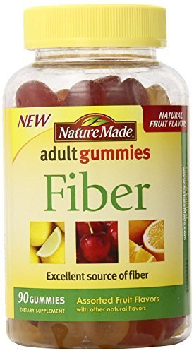 Nature Made Fiber Adult Gummies, 90 Count(pack of 3)total 270