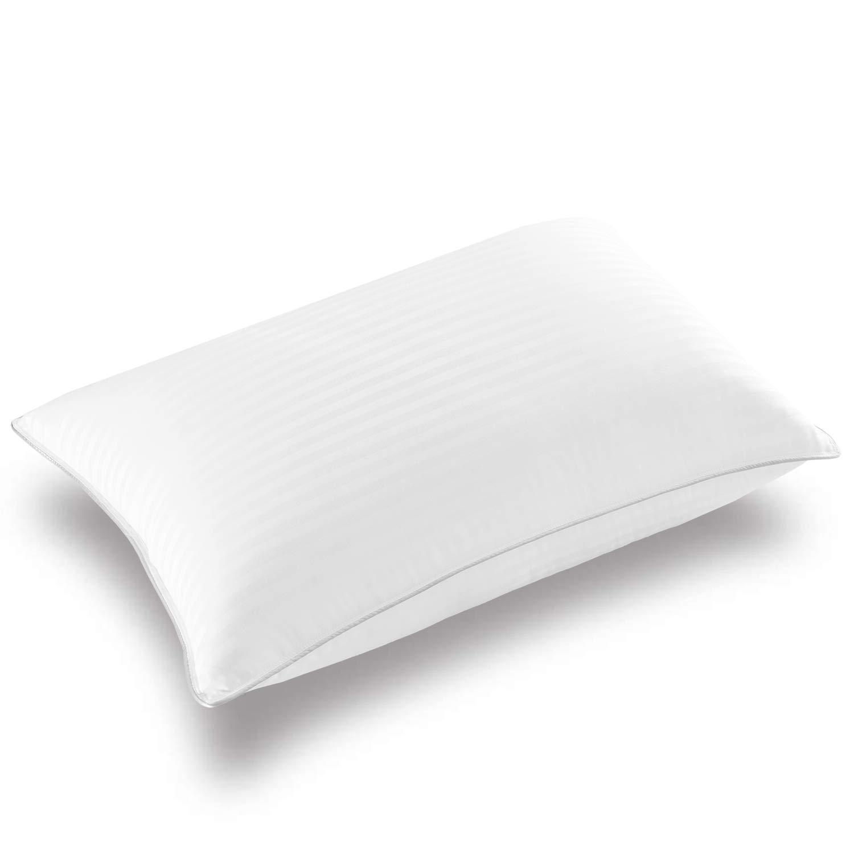 Basic Beyond Down Alternative Bed Pillow - Super Soft Pillow for Sleeping, Bamboo Materials Fill, (Standard Size, Jacquard)