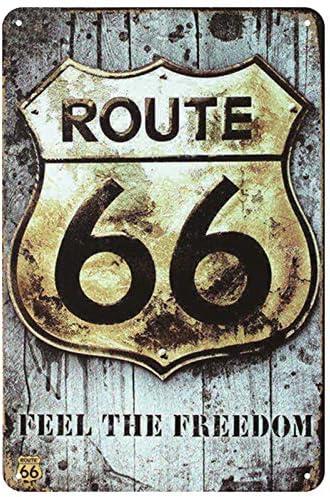 La ruta 66 Muestra de la placa de esta/ño de la vendimia metal Pin elegante lamentable de la decoraci/ón de carteles de chapa de la vendimia decoraci/ón de la barra de metal del cartel Pub metal Plate20x