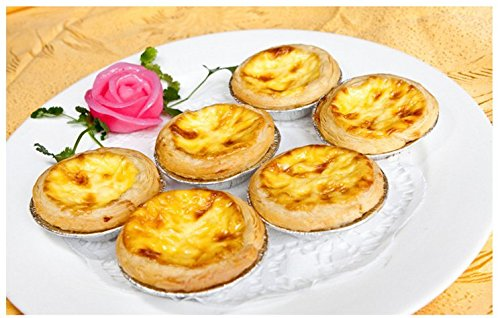 Aluminum Foil Disposable Egg Tart Mold, Mini Pie Pans for Baking Supplies, 250 Counting