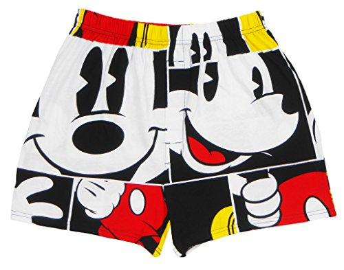 Disney Mickey Mouse Boxer All Over Print Adult Mens Red (Disney Boxers For Men)