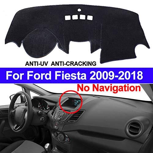 AUCD Car Dashboard Cover Dash Mat Dash Pad Carpet Anti-UV for Ford Fiesta 2018 2017 2016 2015 2014 2013 2012 2011-2009