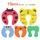 Baby Door Stopper Baby Door Card,10pcs Colorful Carton Animal Cushion Baby Cushiony Finger Hand Safety,Safty Tool for Baby Child Kids