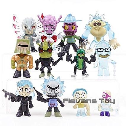 Amazon.com: Rick and Morty - Juego de 12 piezas de juguetes ...