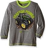 John Deere Little Boys Tractor Power Tee, Medium Heather Grey, 5