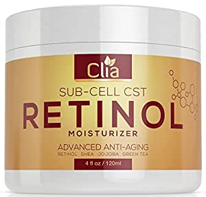 Retinol Night or Day Cream For Face, Neck & Body | Huge 4oz | Vitamin C, E, Jojoba | Anti-Aging | Anti-Wrinkle Firming Moisturizer for Fine Lines, Wrinkles and Dry Skin