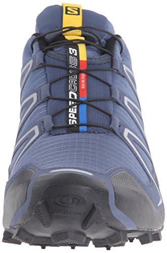 Salomon Mens Speedcross 3 Trail Hardloopschoen Lei Blauw / Zwart / Deep Blue