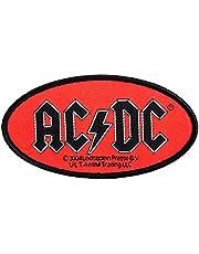 AC/DC patch - ovaal logo patch - geweven & gelicentieerd ! !