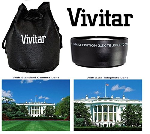 2-PC LENS KIT HI DEF TELEPHOTO & WIDE ANGLE LENS FOR CANON VIXIA HF G20 G30 by -vivitar