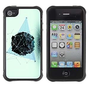 "Pulsar iFace Series Tpu silicona Carcasa Funda Case para Apple iPhone 4 / iPhone 4S , Polígono Modelo azul Vivid"""
