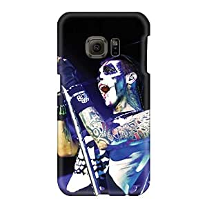 Shock Absorption Hard Phone Covers For Samsung Galaxy S6 With Allow Personal Design Lifelike Black Veil Brides Band BVB Series SherieHallborg