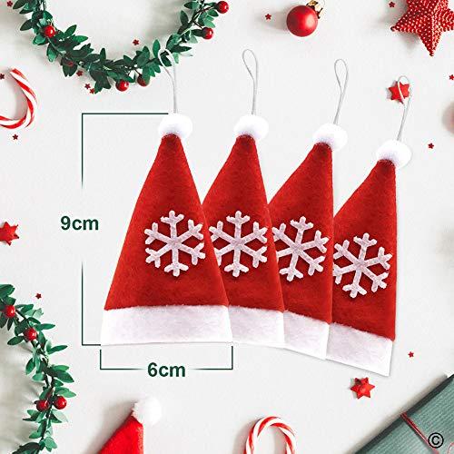 Xmasc Mini Santa Hats 12pcs Christmas Lollipop Candy Hat Christmas