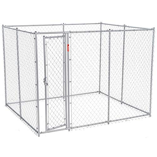 Chain Link Dog Kennel – Lucky Dog Outdoor Heavy Duty Pet Kennel – This Pet Cage System is Perfect For Containing Larger Dogs and  Small Animals. Galvanized chain link doesnt kink or tangle. Two s