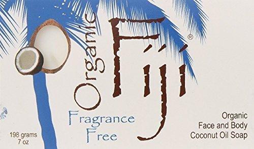 Organic Fiji Coconut Soap Fragrance Free 7 oz (Pack of 5)