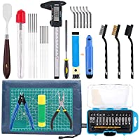 SNOWINSPRING 42 Piece 3D Print Tool Kit Includes Debur Tool, Cleaning and Removal Tool with Storage Bag, 3D Printer Tool…