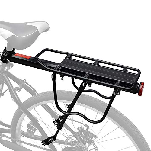 HEYNEMO Bike Rack, Universal Adjustable Bicycle Carrier Racks, Luggage Cargo Rack Bicycle Carrier 110 Lb Capacity…