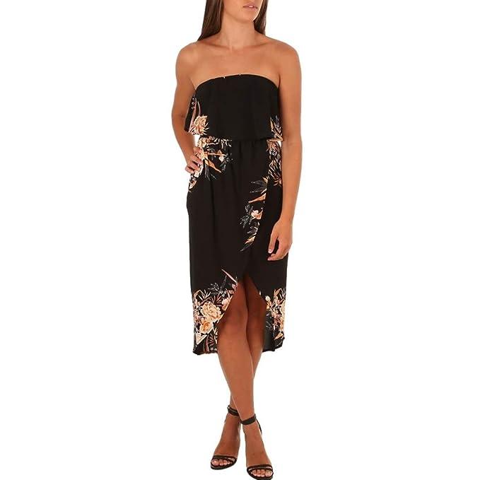 Lange Kleid Damen,OHQ Mode Frauen Schulterfrei Irregulär Bodycon ...