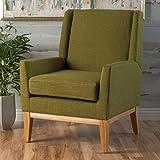 Archibald Mid Century Modern Fabric Accent Chair (Green)