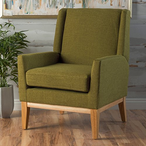 Archibald Mid Century Modern Fabric Accent Chair (Green)
