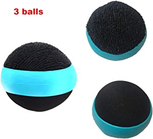 3 Pack Dual Action Touch Screen Glass Cleaner Cleaning Ball for iPad/Tablet/Smart Phone/Laptop/Computer/TV/Monitor Blue