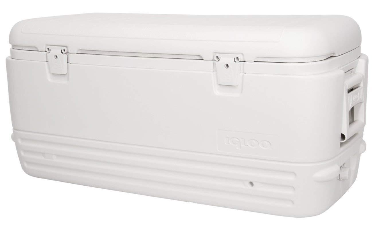 Igloo Polar Cooler 120-Quart, White Renewed