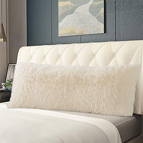 Panku Body Pillow Cover Long Hair PV Fur Pillow Cover with Zipper Closure Super Soft Pillow Case (21