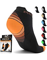 Physix Gear Sport Low Cut Socks Men & Women - Ankle Compression Running Socks with Arch Support