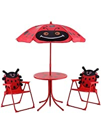 ka company picnic table folding kids outdoor bench children umbrella garden portable yard seat play furniture