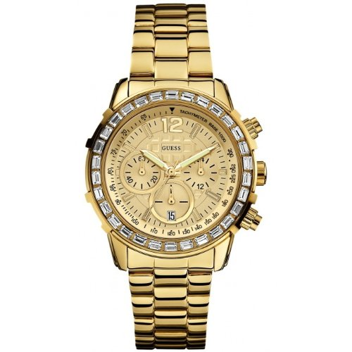 Guess Sporty Chronograph Gold Watch W0016L2