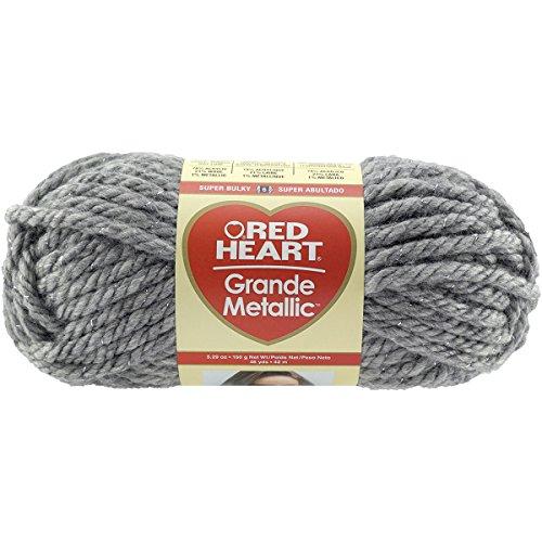 Red Heart Grande - Red Heart Grande Metallic Yarn-Smoke