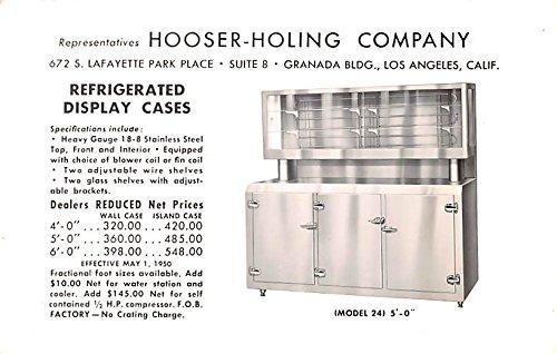 Refrigerator Antique (Hardware Advertising Old Vintage Antique Post Card Refrigerator, Hooser Holing Company Unused)