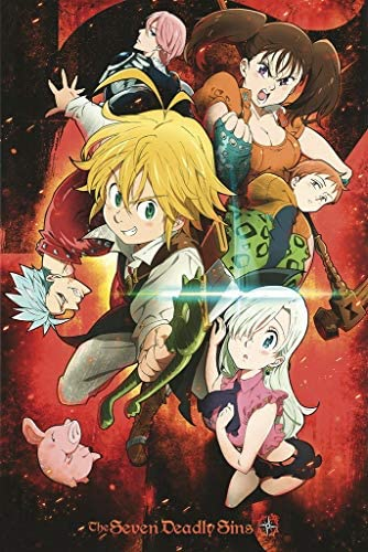 The Seven Deadly Sins - Manga Series - Anime Poster 24in x 36in