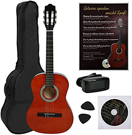 NAVARRA NV13PK Guitarra acustica STARTER PACK 3/4 honey con bordes ...