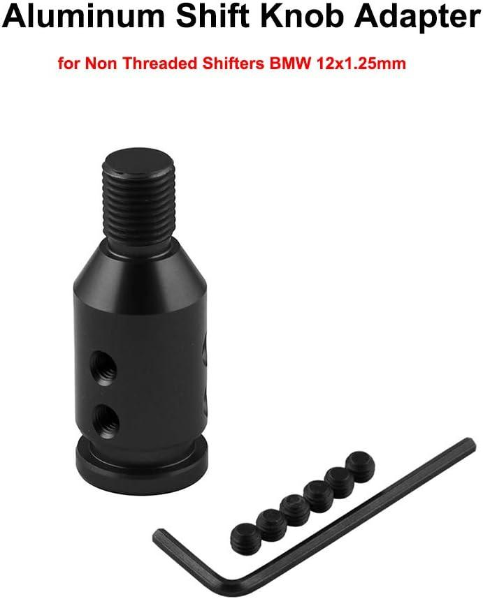 Sporacingrts Aluminum Universal Shift knob Shifter Adapter for BMW Mini M12x1.25