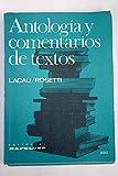 img - for Antolog a y comentarios de textos book / textbook / text book
